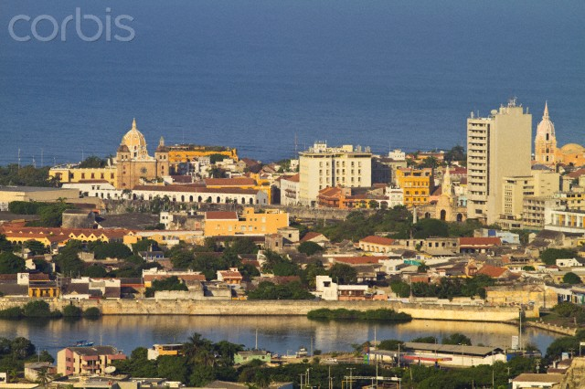 Colombia, Bolivar, Cartagena De Indias, Cartagena, towards the Old walled city