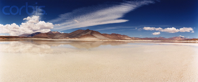 Salt Flats in High Atacama Plateau