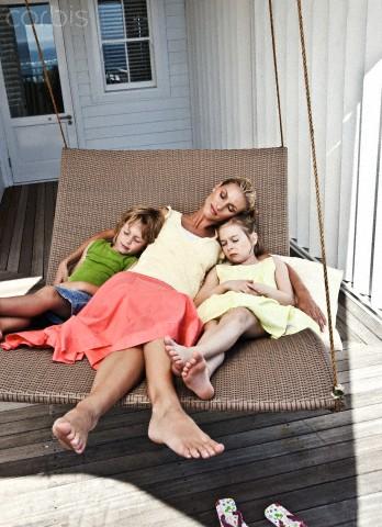 family with hammock