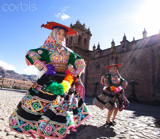 Traditional Peruvian Dancers, Cusco. Peru