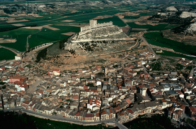 Aerial View of City and Castle
