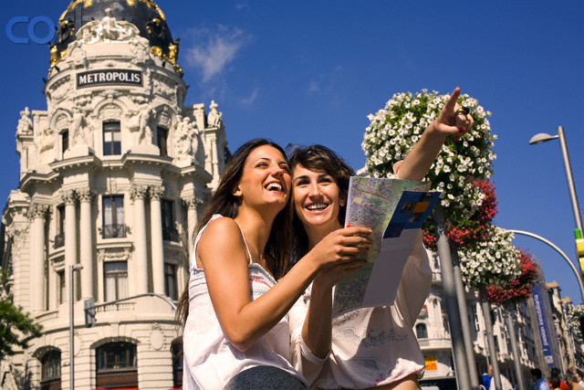 Friends Traveling in Madrid