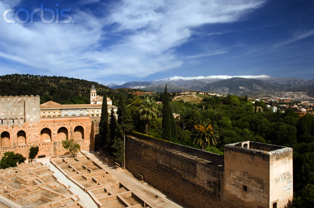 The Alcazab Section of the Alhambra